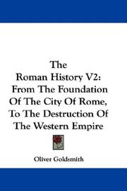 Cover of: The Roman History V2 | Oliver Goldsmith