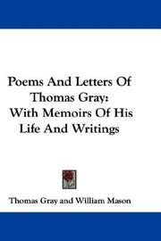 Cover of: Poems And Letters Of Thomas Gray | Thomas Gray