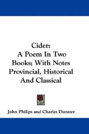 Cover of: Cider | John Philips