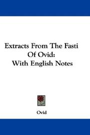 Cover of: Extracts From The Fasti Of Ovid | Ovid