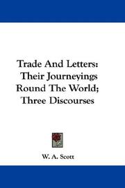 Cover of: Trade And Letters by W. A. Scott