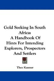 Cover of: Gold Seeking In South Africa | Theo Kassner