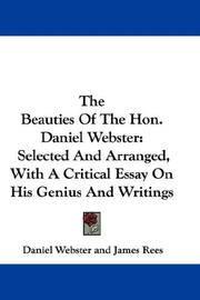 Cover of: The Beauties Of The Hon. Daniel Webster | Daniel Webster