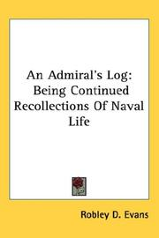 Cover of: An admiral's log by Robley D. Evans