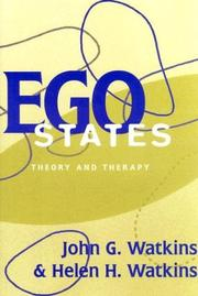 Cover of: Ego states by Watkins, John G.