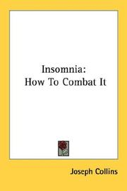 Cover of: Insomnia | Joseph Collins