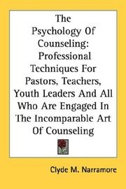 Cover of: The psychology of counseling by Clyde M. Narramore