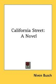 Cover of: California Street by Niven Busch