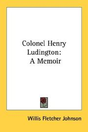 Cover of: Colonel Henry Ludington by Willis Fletcher Johnson