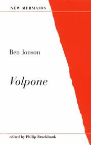 Cover of: Volpone | Ben Jonson