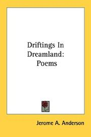 Cover of: Driftings In Dreamland | Jerome A. Anderson