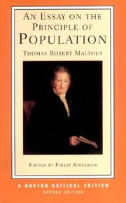 malthus t. (1798) an essay on the principle of population Malthus' essay on the principle of population anonymously in 1798 in this classic book, malthus pointed out that tr malthus' essay on the.
