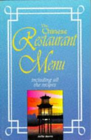 Cover of: Chinese Restaurant Menu Recipes (Restaurant Recipes) by Sallie Morris