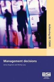 Cover of: Achieving BS 15000 Management Decisions | Jenny Dugmore