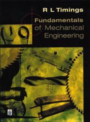 Cover of: Fundamentals of Mechanical Engineering by R.L. Timings