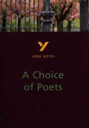 "Cover of: York Notes on ""Choice of Poets"" by Paul Pascoe"