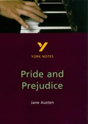 "Cover of: York Notes on Jane Austen's ""Pride and Prejudice"" by G. Nash"