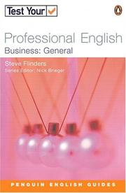 Cover of: Test Your Professional English - Bus General (Test Your Professional English) by BRIEGEN