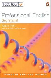 Cover of: Test Your Professional English - Secretarial (Penguin English Guides) by BRIEGEN