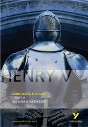 "Cover of: York Notes on ""Henry V"" by David Langston"