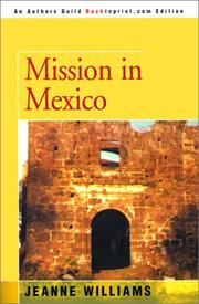 Cover of: Mission in Mexico | Jeanne Williams