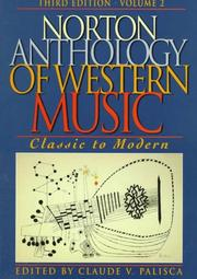 Cover of: Norton Anthology of Western Music | Claude V. Palisca