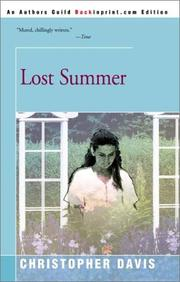 Cover of: Lost Summer | Christopher Davis