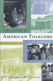 Cover of: The study of American folklore by Jan Harold Brunvand