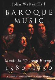 Cover of: Baroque Music | John Walter Hill
