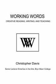 Cover of: Working Words | Christopher Davis