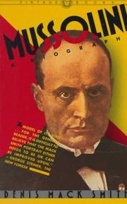 Cover of: Mussolini | Denis Mack Smith