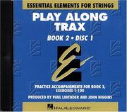 Cover of: Essential Elements for Strings Book 2 - Play Along Trax - 2 CDs by Allen Gillespie Hayes