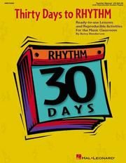 Cover of: Thirty Days to Rhythm (30 Days) by Betsy Henderson