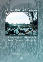 Cover of: On the Path to Excellence | William S. Carson