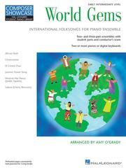 Cover of: World Gems - Folk Songs for Piano Ensemble | Amy O'Grady