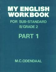 Cover of: My English Workbook: Sub A/Gr 1 (Workbooks: My English Workbook) | Odendaal