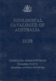 Cover of: Zoological Catalogue of Australia | P. J. F. Davie