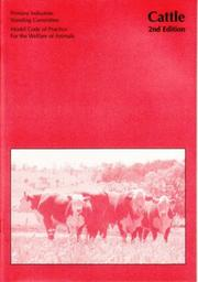 Cover of: Model Code of Practice for the Welfare of Animals | Primary Industries Standing Committee