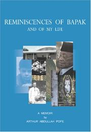 Cover of: Reminiscences of Bapak | Arthur Abdullah Pope
