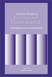 Cover of: Current Trends in International Fusion Research | E. Panrella