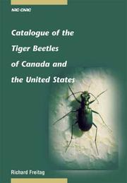 Cover of: Catalogue of the Tiger Beetles of Canada and the United States | Richard Freitag