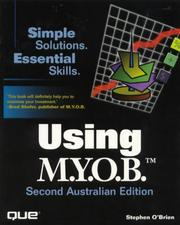 Cover of: Using Myob by Stephen O'Brien