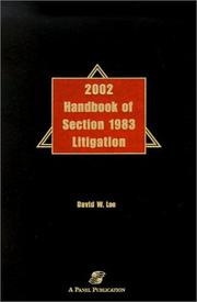 Cover of: 2002 Handbook of Section 1983 Litigation by David W. Lee