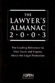 Cover of: The Lawyer's Almanac 2003 by Aspen Publishers