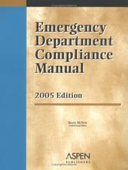 Cover of: Emergency Department Compliance Manual | Rusty McNew