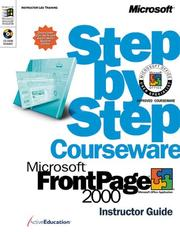 Cover of: Microsoft  FrontPage  2000 Step by Step Courseware Trainer Pack (Microsoft Programming Series) | ActiveEducation
