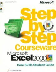 Cover of: Microsoft  Excel 2000 Step by Step Courseware Core Skills Class Pack (Step By Step Courseware. Core Skills Student Guide) by ActiveEducation