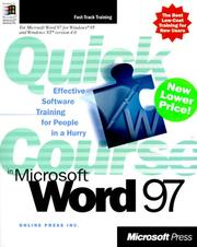 Cover of: Quick Course(r) in Microsoft(r) Word 97 by Online Press Inc.