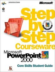 Cover of: Microsoft  PowerPoint  2000 Step by Step Courseware Core Skills Class Pack (Step By Step Courseware. Core Skills Student Guide) | Perspection