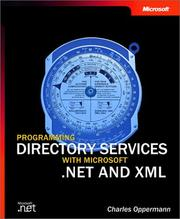 Cover of: Programming Directory Services With Microsoft .Net and Xml (Pro-Developer by Charles Oppermann